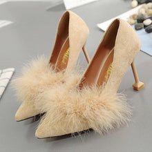 Load image into Gallery viewer, Pointed Toe Suede Slim Heel Shoes