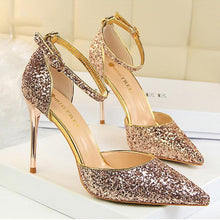 Load image into Gallery viewer, Elegant Sequins Pointed Toe Sandals Shoes