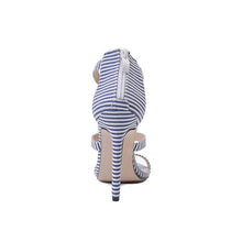 Load image into Gallery viewer, Stripe Slim Heel Word Band High Heel Shoes