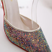 Load image into Gallery viewer, Fashion Sequins Pointed Slim High Heel Shoes