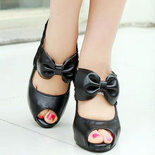 Load image into Gallery viewer, Elegant Lace Bow-Knot Fish Mouth High Heel Shoes