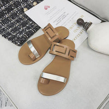 Load image into Gallery viewer, Large Size PU Hollow-out Beach Slippers