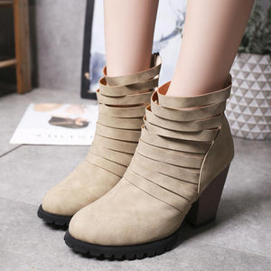 High Heel Thick With Female Sandals Martin Boots
