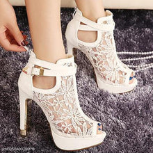 Load image into Gallery viewer, Lace Breathable Mesh High Heel Sandals