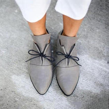 Load image into Gallery viewer, Plain  Flat  Criss Cross  Point Toe  Casual Date Comfort Flats