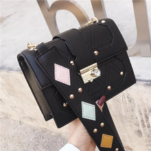 Load image into Gallery viewer, Fashion Casual Business Rectangle Rivet Leather Long Sleeve Bag