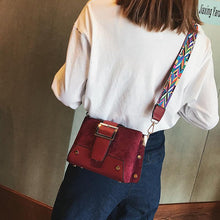 Load image into Gallery viewer, Casual Fashion Nifty Rivet Buckle Rectangle Color Belt One Shoulder Bag
