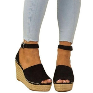 Fashion Wild   Wedge With Fish Mouth Sandals