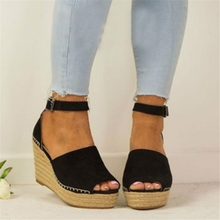 Load image into Gallery viewer, Fashion Wild   Wedge With Fish Mouth Sandals