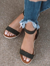 Load image into Gallery viewer, Hemp Buckle With Thick Bottom Roman Sandals
