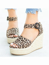 Load image into Gallery viewer, Fashion Casual Leopard Platform   Wedge Sandals