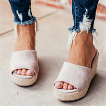 Load image into Gallery viewer, Fashion Versatile Woven Platform   Wedge Slippers
