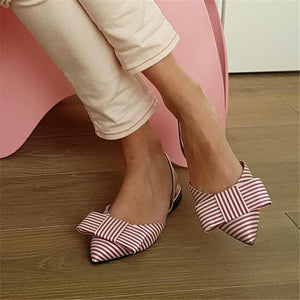 Flat Simple Sexy Bow Wild Women's Sandals