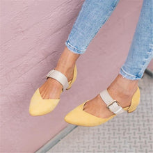 Load image into Gallery viewer, Women's Simple Buckle Casual High Heels Flat Shoes Mules