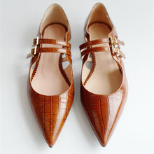Load image into Gallery viewer, Pointed Double-Breasted Women's Casual Shoes
