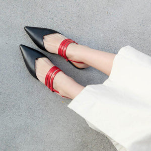 Pointed Flat Bottom Large Size Wear Slippers