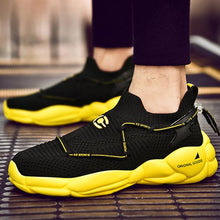 Load image into Gallery viewer, Casual Sportive Breathable Korean Style Flyknit Platform Shoes Sneakers