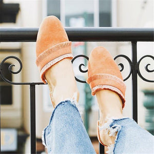 Women's Simple Solid Color   Tassel Flat Shoes