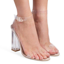 Load image into Gallery viewer, One-Line Buckle High Heels Fashion Sandals