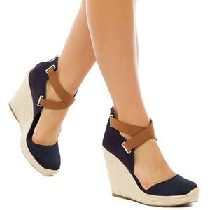 Women Wedge Sandals Casual Sexy Bandage Plus Size Shoes