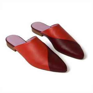 Women's Summer Temperament Contrast Color Pointed Slippers