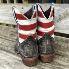 Load image into Gallery viewer, WOMEN'S AMERICAN BEAUTY  FLAG SHORTIE BOOTS