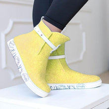 Load image into Gallery viewer, Women Winter Casual Slip-On Woolen Ankle Boots