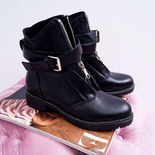 Load image into Gallery viewer, Black Pu Daily Ankle Boots