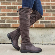 Load image into Gallery viewer, Women's round head zipper boots
