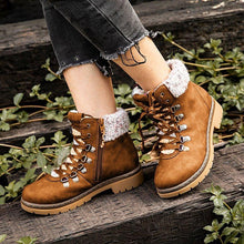 Load image into Gallery viewer, Brown Flat Heel Closed Toe Women Flat Boots