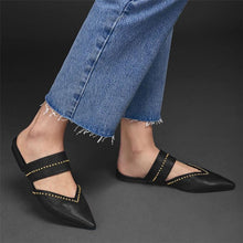 Load image into Gallery viewer, Fashion Vintage   Studded Pointed Flat Shoes