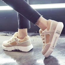 Load image into Gallery viewer, Womens Flat Heel Lace-Up All Season Date Sneakers