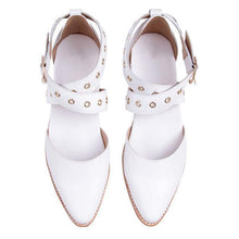 Load image into Gallery viewer, Women's Casual Cross Buckle   Point Flat Shoes
