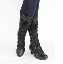 Load image into Gallery viewer, Women Vintage Lace Up Soft Leather Mid-Calf Boots