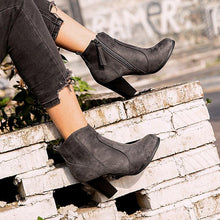 Load image into Gallery viewer, Winter Chunky Heel Working Suede Zipper Boot