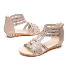 Load image into Gallery viewer, Women PU Sandals Casual Comfort Roman Zipper Shoes