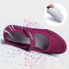 Load image into Gallery viewer, Women Mesh Fabric Sneakers Breathable Magic Tape Shoes