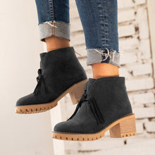 Load image into Gallery viewer, Women Tassel Winter  Slip-On Suede Ankle Boots
