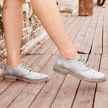 Load image into Gallery viewer, Artificial Leather Low Heel Oxford Lace-Up Loafers