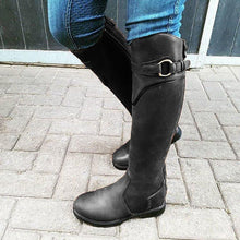 Load image into Gallery viewer, Leather Daily Flat Heel Knee Boots