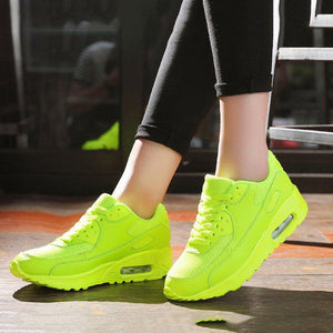 Breathable Wedges Athletic Shoes Mesh Fabric Lace-up Unisex Sneakers