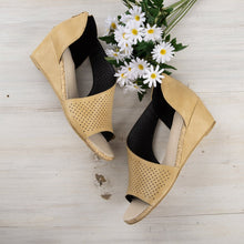 Load image into Gallery viewer, Cut-outs Slip On Wedges Sandals