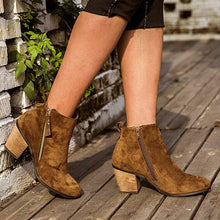 Load image into Gallery viewer, Chunky Heel Closed Toe Women Boots