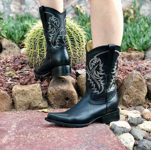 Cowgril Low Heel Boots