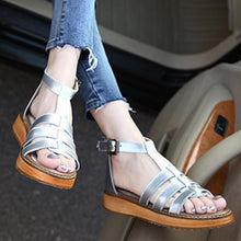 Load image into Gallery viewer, Women PU Plus Size Sandals Casual Comfort Adjustable Buckle Shoes