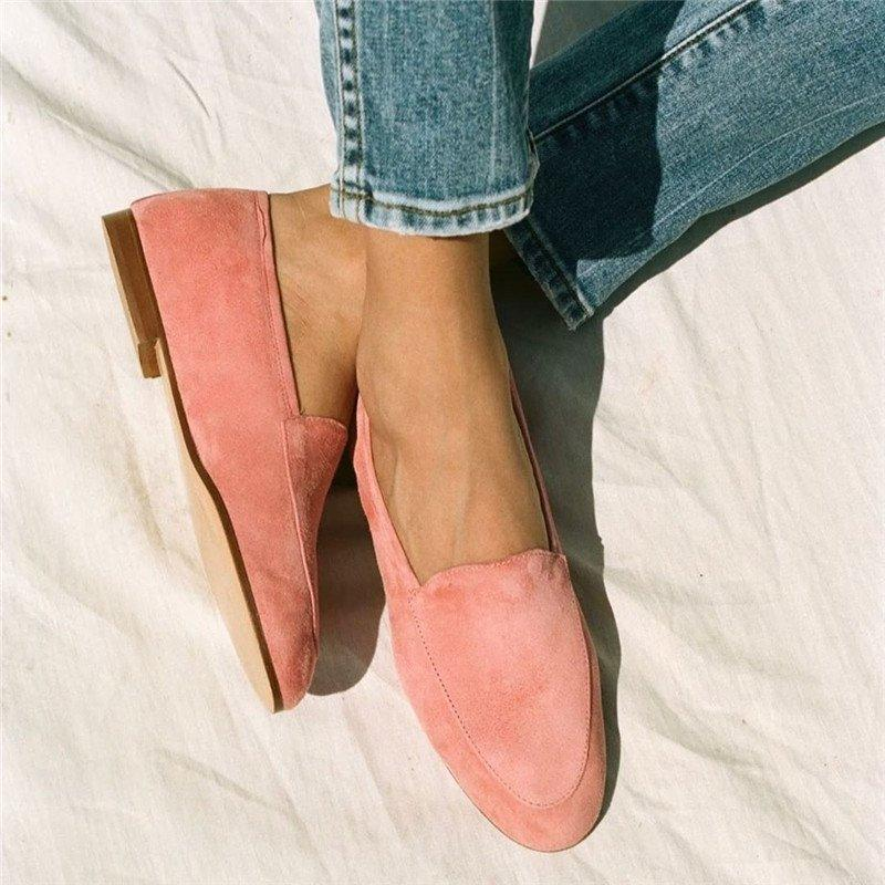 Women Casual Daily Suede Loafer Shoes