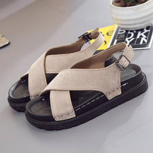 Load image into Gallery viewer, Women Nubuck Sandals Casual Adjustable Buckle Shoes