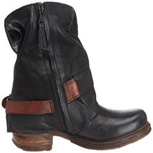 Load image into Gallery viewer, Buckle Low Heel PU Daily Women's Boots