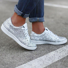 Load image into Gallery viewer, Women Date Sparkling Glitter Sneakers
