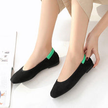 Load image into Gallery viewer, Women's Square Toe Color Split Comfortable Soft Flats